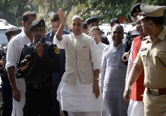 rajnath singh to attend run for unity event in hyderabad