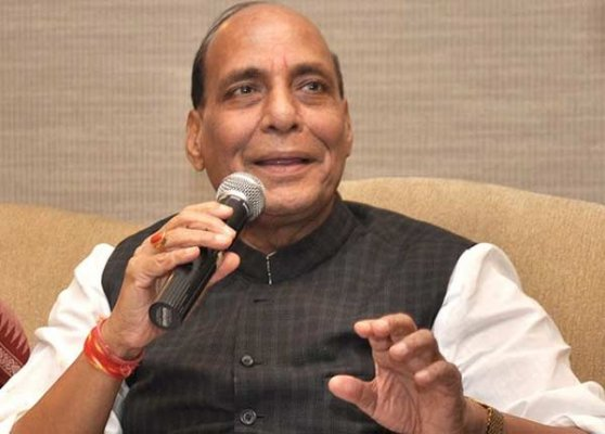 rajnath singh asks youth to spread message of peace and