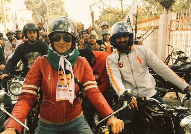 delhi polls gul panag turns aap s bullet rani