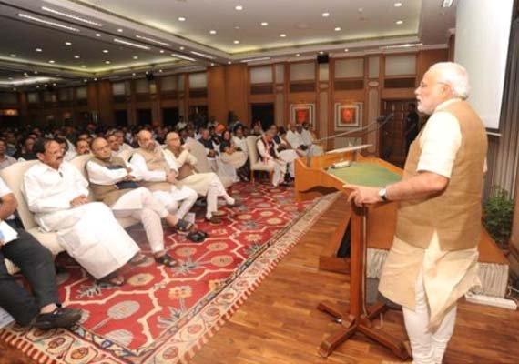 be a symbol of positive political entity pm tells nda mps