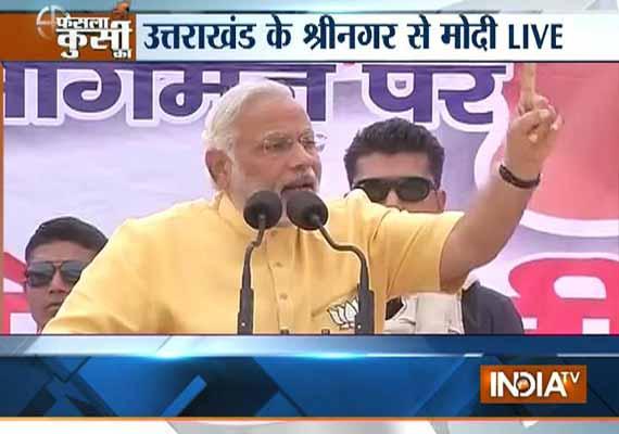 live india is running in reverse gear says modi at srinagar