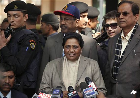 mayawati asks why is congress silent on price rise