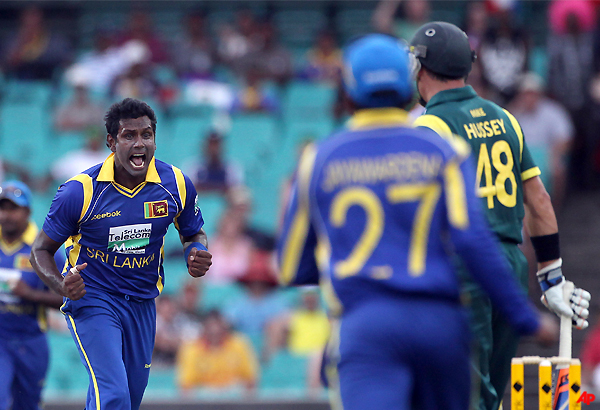 lanka crush aus by 8 wkts record their first win in series
