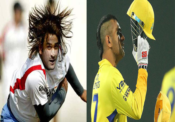 Dhoni's new hairstyle a rage among fans | Cricket News ...