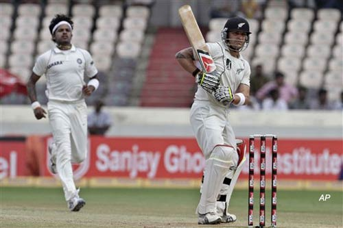 mccullum s double ton bring hyderabad test to a draw