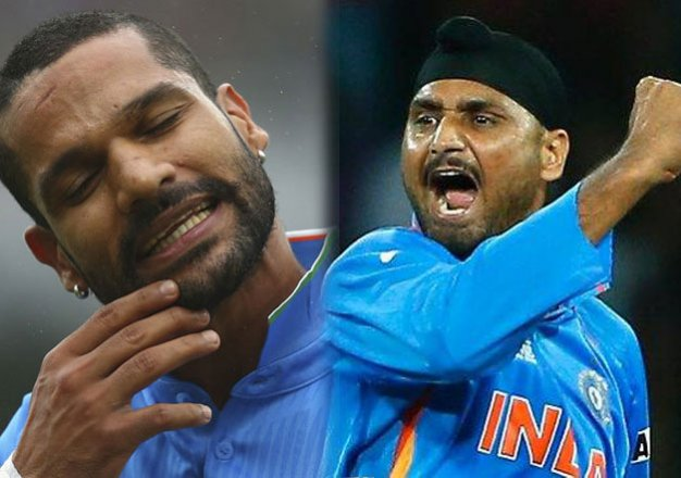 watch when shikhar dhawan locked arms with harbhajan singh