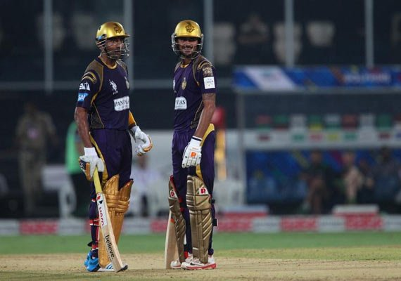 clt20 match 18 uthappa pandey power kkr to 187/2 against