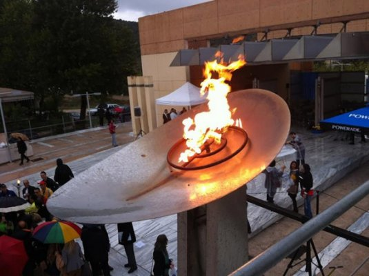 marathon flame lit for 32nd athens marathon