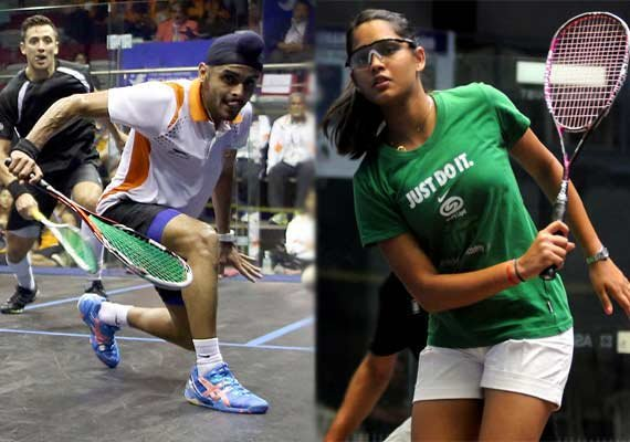 hat trick of titles for harinder double for dipika