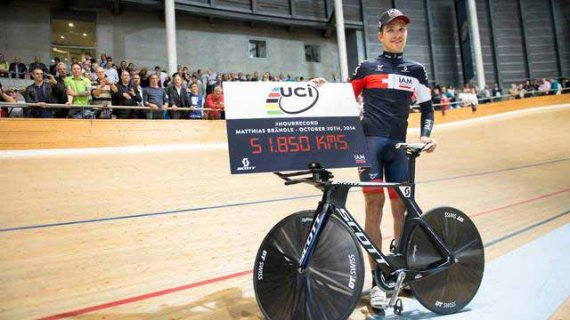 austrian cyclist sets new world hour record