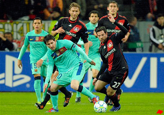 barcelona wins 3 1 at leverkusen in champs league