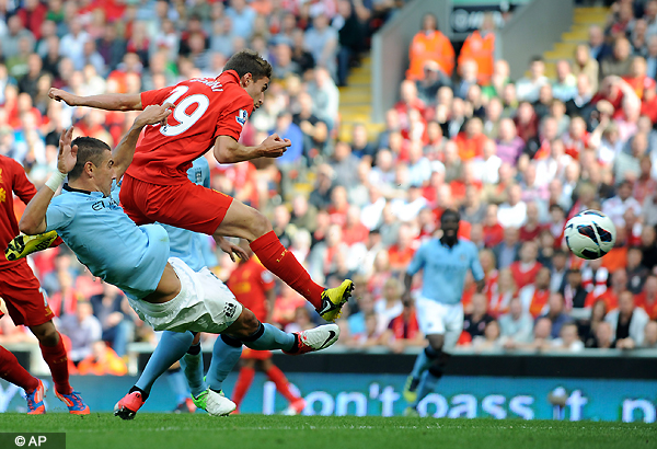 liverpool draws 2 2 vs. manchester city at anfield