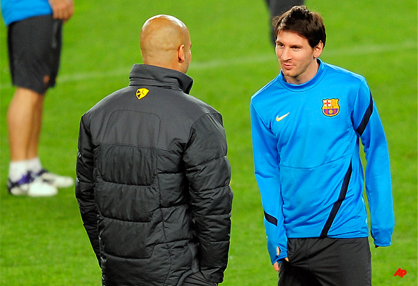 messi pays tribute to barcelona coach guardiola