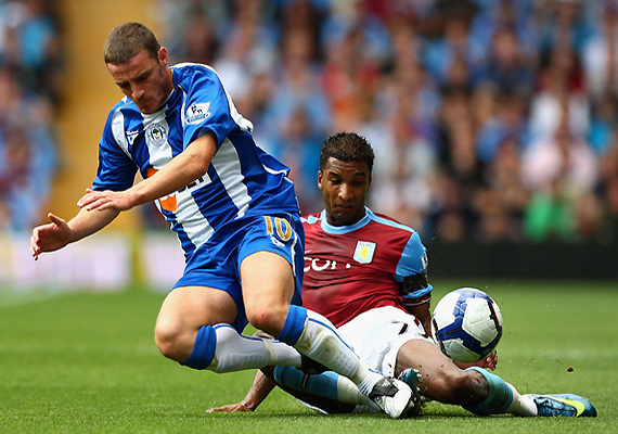 wigan draw 0 0 against aston villa