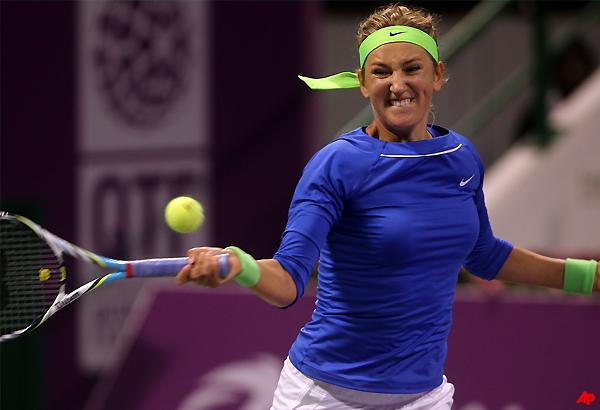 azarenka beats halep to reach qatar open quarters