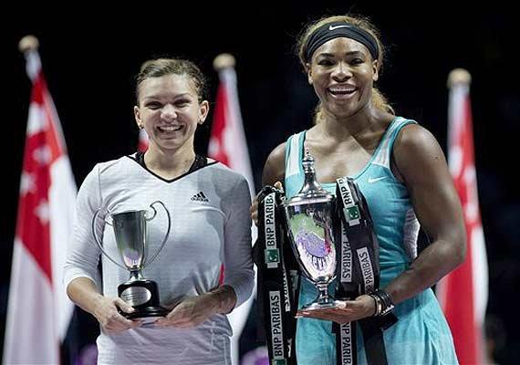 wta finals serena williams beats simona halep to win title
