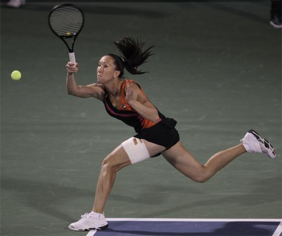 jelena jankovic beats us open champion sam stosur in dubai