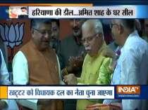 Manohar Lal Khattar elected as Legislature party leader in Haryana