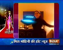 TV actress Shraddha Arya shows off her moves