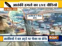 20 people injured in a grenade attack in Sopore, cctv footage surfaces