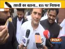 Rahul Gandhi attacks RSS, says what Sadhvi Pragya said yesterday is the ideology of RSS