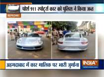 Porsche car owner slapped with Rs 9.8 lakh fine in Ahmedabad