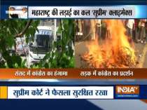 Shiv Sena MLAs shifted to Hotel Lemon Tree; Youth Congress workers hold protest