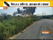 Navy MiG-29K fighter aircraft crashes in Goa, pilots safe