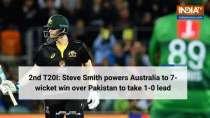 2nd T20I: Steve Smith powers Australia to 7-wicket win over Pakistan to take 1-0 lead