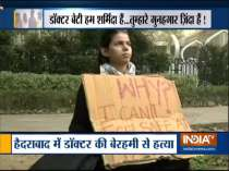 Police detains girl protesting near Parliament over atrocities against women