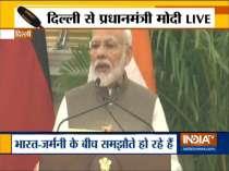 PM Modi & German Chancellor Angela Merkel issue joint press statement
