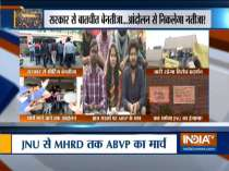 After withdrawing support to JNU students, ABVP to come on road today against fee hike