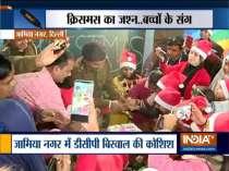 Southeast Delhi DCP turns Santa Claus for kids, celebrates Christmas in Jamia Nagar