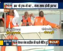 Kanpur: PM Modi takes a boat ride in river Ganga at Atal ghat