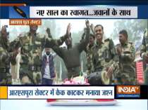 Jammu and Kashmir: BSF jawans cut cake, celebrate in RS Pura, ahead of New Year