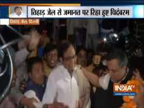 INX Media Case: P Chidambaram released from Tihar Jail, Congress workers give him a warm welcome