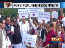 Congress leaders, including P Chidambaram protest in Parliament premises over onion prices
