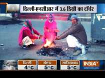 Winter chill grips north India, minimum temperature goes down to of 3.6 degree celsius in Delhi