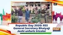 Republic Day 2020: RSS General Secretary Bhaiyaji Joshi unfurls tricolor
