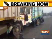 Several vehicles crash into each other due to fog at Alwar National Highway