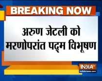 Former Union Ministers Sushma Swaraj and Arun Jaitley awarded Padma Vibhushan posthumously