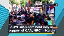 ABVP members hold rally in support of CAA, NRC in Kerala