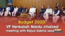 Budget 2020: VP Venkaiah Naidu chaired meeting with Rajya Sabha leaders