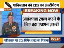 CDS General Bipin Rawat speaks on terrorism during Raisina Dialogue