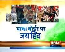 BSF on Sunday organised the customary flag hoisting ceremony at the Attari-Wagah border