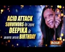 Deepika Padukone celebrates birthday with acid attack survivors