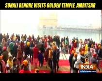 Sonali Bendre visits Golden temple with husband Goldie Behl