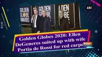 Golden Globes 2020: Ellen DeGeneres suited up with wife Portia de Rossi for red carpet