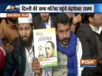 Bhim Army chief Chandrashekhar Azad leads anti-CAA, NRC protest at Jama Masjid