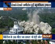 Kerala: H2O Holy Faith apartment tower in Maradu demolished through controlled implosion